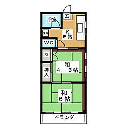 菅野アパート[2階]の間取り
