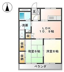 神奈川県海老名市今里3丁目の賃貸マンションの間取り