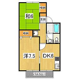 蒼terrace小野(旧:セジュール栄)[2階]の間取り