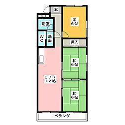 桜台ハイツ[5階]の間取り