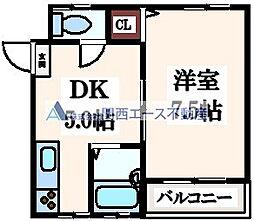 ロイヤルハイム新深江[3階]の間取り