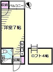 アップルハウス三ッ沢南町[2階]の間取り