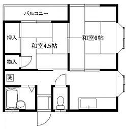 ハイツ伊藤[201号室号室]の間取り