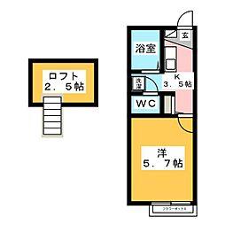 アムールSERI[1階]の間取り