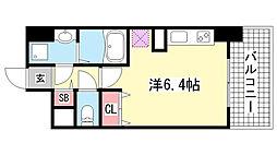 パシフィックレジデンス神戸八幡通[12階]の間取り