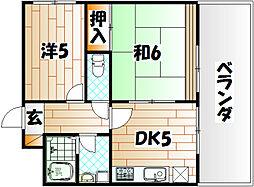 銀座スカイマンション[6階]の間取り