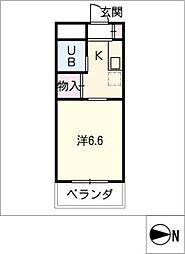 イザワハイム[2階]の間取り