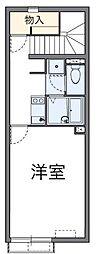 愛知県名古屋市緑区赤松の賃貸アパートの間取り