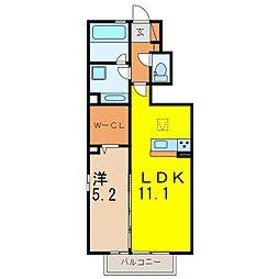仮) D-room道場山[103号室]の間取り