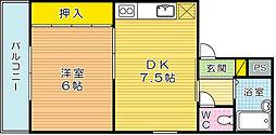 コーポ田町[302号室]の間取り