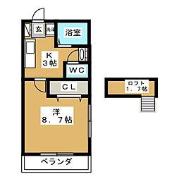 ロフトハウスA[2階]の間取り