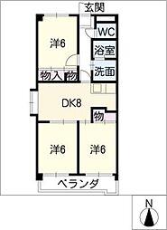 サニーコート砂田[3階]の間取り