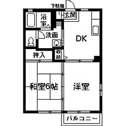 プランタンB[2階]の間取り