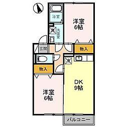 埼玉県ふじみ野市築地3丁目の賃貸アパートの間取り