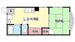 下川マンション[202号室]の間取り