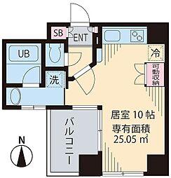 ビイルーム高円寺[5階]の間取り