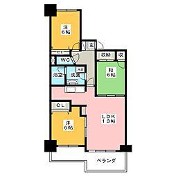 ネオシティ岡崎壱番館[11階]の間取り