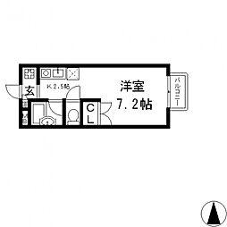 プロパティ中小阪A棟[A201号室号室]の間取り