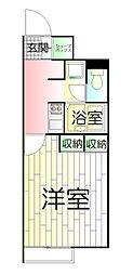 東京都足立区弘道1丁目の賃貸アパートの間取り