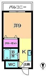 奈良県奈良市秋篠早月町の賃貸アパートの間取り