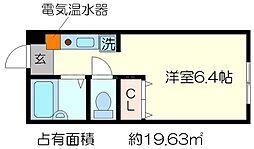 サーティフル新二条[4階]の間取り