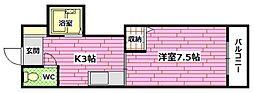 ドラゴーン金原[1階]の間取り