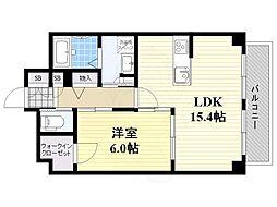 Stay esaka 1階1LDKの間取り