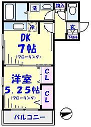 コスモスブラン[2階]の間取り