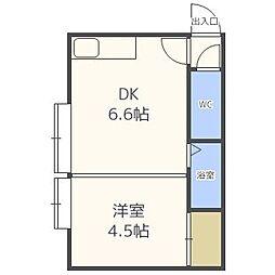 ピュア元町[3階]の間取り