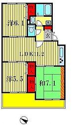 サンフィールド松戸[105号室]の間取り