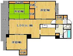 第IIハイツライラック[1階]の間取り