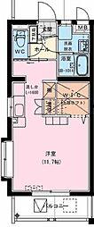 (仮)神宮東2丁目マンション 2階ワンルームの間取り