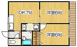 神宮ハイツ[1階]の間取り