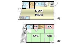 [一戸建] 兵庫県神戸市灘区中原通1丁目 の賃貸【/】の間取り