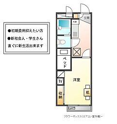 兵庫県姫路市飾磨区中島1丁目の賃貸アパートの間取り