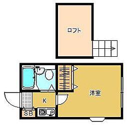 東京都葛飾区高砂7の賃貸アパートの間取り