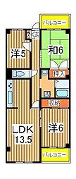 ステイタスヒル天王台弐番館[3階]の間取り