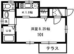 神奈川県横浜市磯子区磯子6丁目の賃貸アパートの間取り