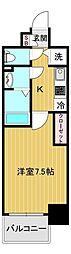 エスリード大阪城アクシス 2階1Kの間取り