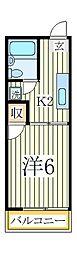 イーグルハイツB[1階]の間取り