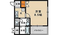 IF都島[5階]の間取り