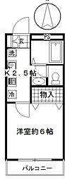 神奈川県川崎市多摩区南生田7丁目の賃貸アパートの間取り