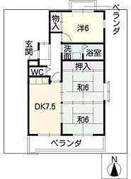 山田ビル[1階]の間取り