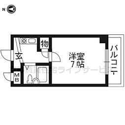 未麗西京極[3階]の間取り
