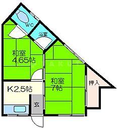 松井文化 新館[2階]の間取り
