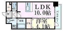 Osaka Metro御堂筋線 東三国駅 徒歩6分の賃貸マンション 3階1LDKの間取り