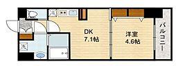 スプランディッド新大阪キャトル[4階]の間取り