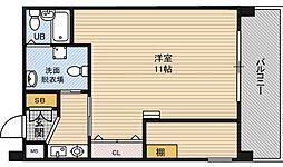大阪府大阪市淀川区十三本町1丁目の賃貸マンションの間取り