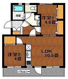 第一 中村ビル[2階]の間取り