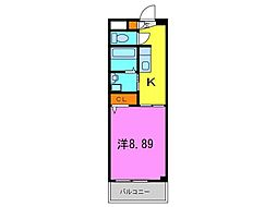 アネマ エ コーレ[1階]の間取り